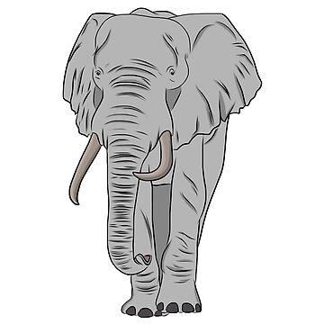 Cartoon Elephant  by rmcbuckeye