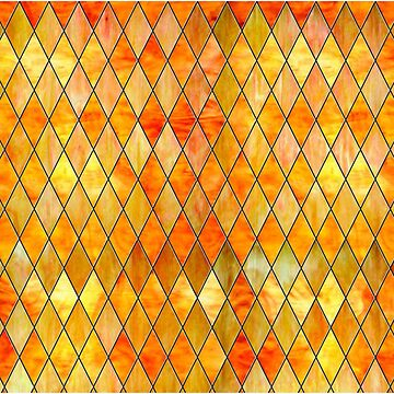 Yellow Orange Gold Stained Glass by GuyBlank