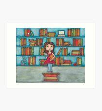 STEM Library Girl Art Print