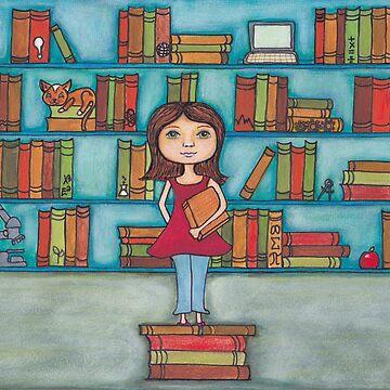 STEM Library Girl by peaceofpistudio