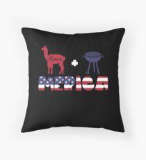 Alpaca plus Barbeque Merica American Flag Cojín de suelo