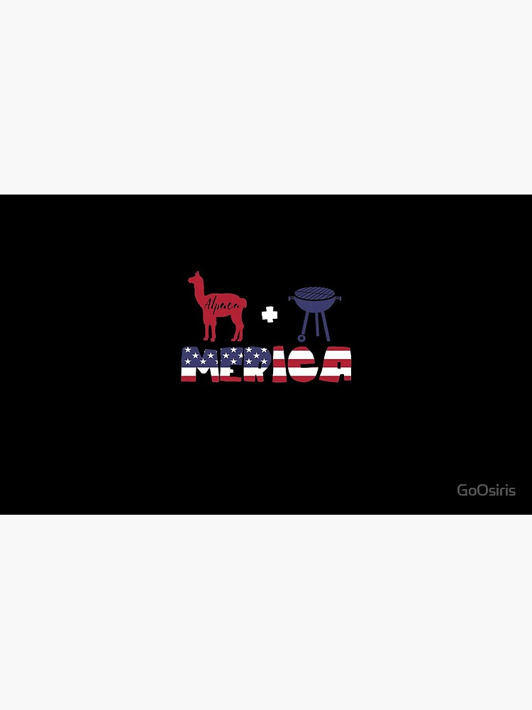 Alpaca plus Barbeque Merica American Flag de GoOsiris