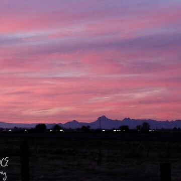 Sutter Buttes and Pink Sunset by BryanSoCal