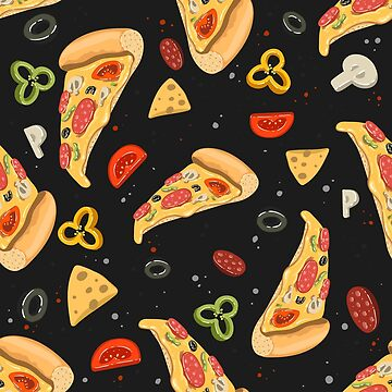 Pizza food seamless pattern illustration by julkapulka