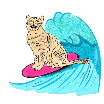 Cool Surfer Cat by Barnyardy