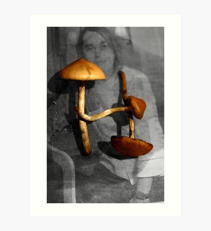 Tipografia del fungo [ mushroom typography ] Art Print