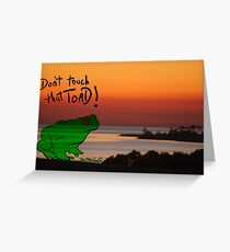 The Frog goes 2island Greeting Card