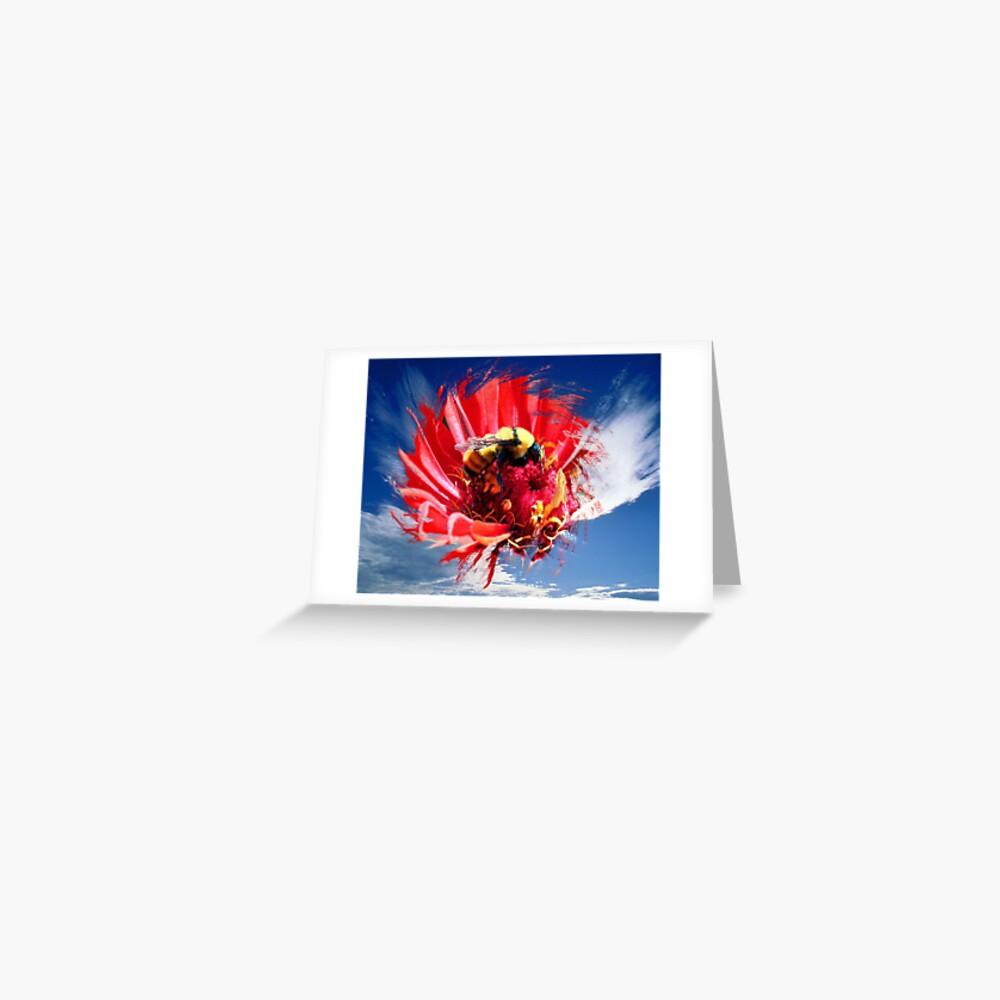 flight of the flora fauna Greeting Card