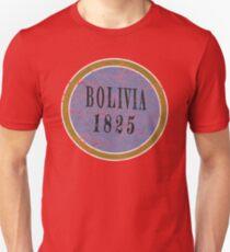 Vintage Bolivia Independence day T-shirt Unisex T-Shirt