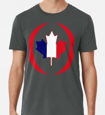 French Canadian Multinational Patriot Flag Series Premium T-Shirt