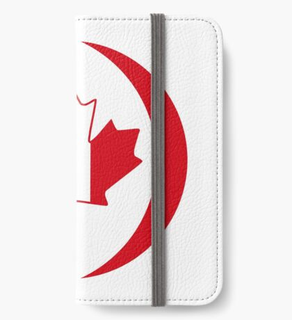 French Canadian Multinational Patriot Flag Series iPhone Wallet
