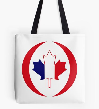 French Canadian Multinational Patriot Flag Series Tote Bag