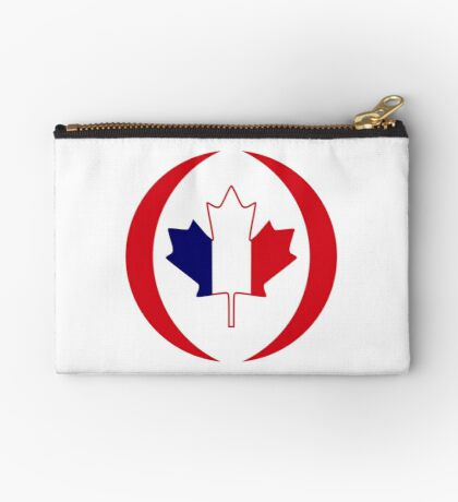 French Canadian Multinational Patriot Flag Series Zipper Pouch