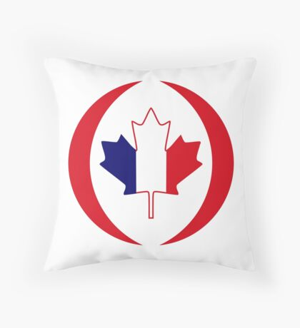 French Canadian Multinational Patriot Flag Series Floor Pillow