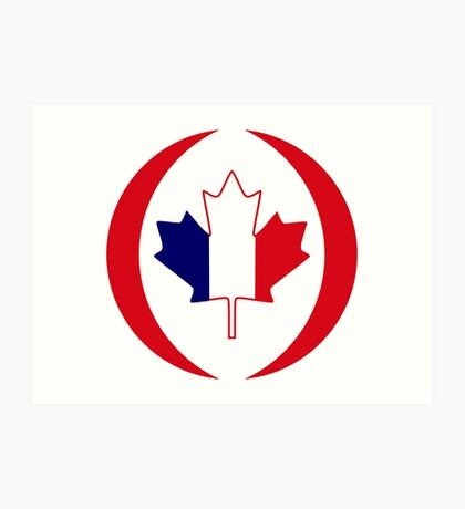 French Canadian Multinational Patriot Flag Series Art Print