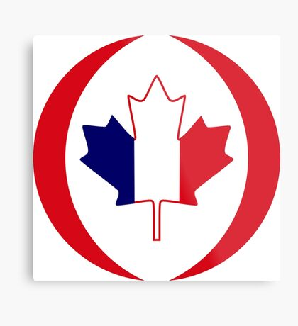 French Canadian Multinational Patriot Flag Series Metal Print