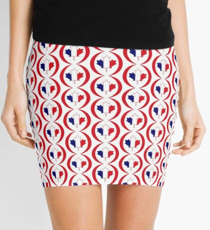 French Canadian Multinational Patriot Flag Series Mini Skirt