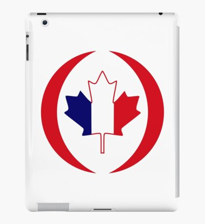 French Canadian Multinational Patriot Flag Series iPad Case/Skin
