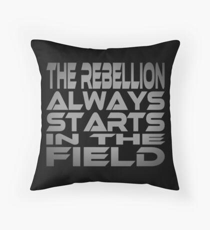 The Rebellion Always Starts in the Field Floor Pillow
