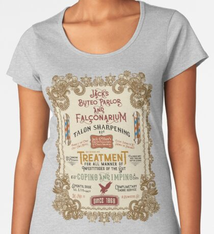 Falconry Barber Shop Falconry Joke for Bored Falconers Women's Premium T-Shirt