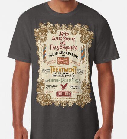 Falconry Barber Shop Falconry Joke for Bored Falconers Long T-Shirt