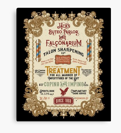 Falconry Barber Shop Falconry Joke for Bored Falconers Canvas Print