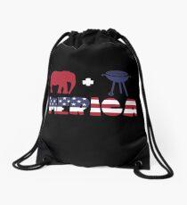 Funny Elephant plus Barbeque Merica American Flag Mochila saco