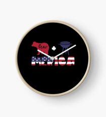 Funny Bear plus Barbeque Merica American Flag Reloj