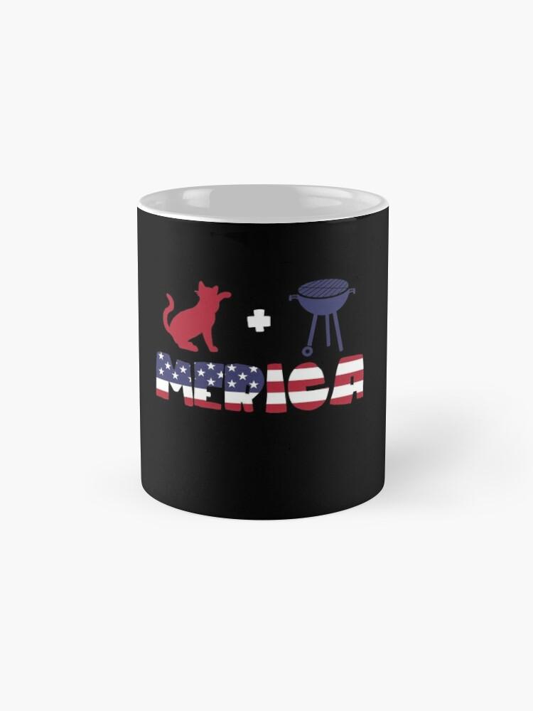 Vista alternativa de Taza Cat plus Barbeque Merica American Flag