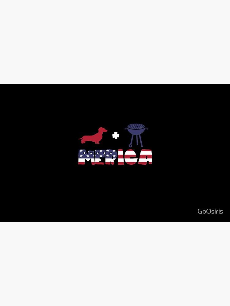 Funny Dachshund plus Barbeque Merica American Flag de GoOsiris