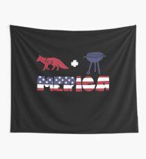 Foxplus Barbeque Merica American Flag Tela decorativa