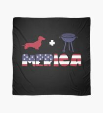 Funny Dachshund plus Barbeque Merica American Flag Pañuelo