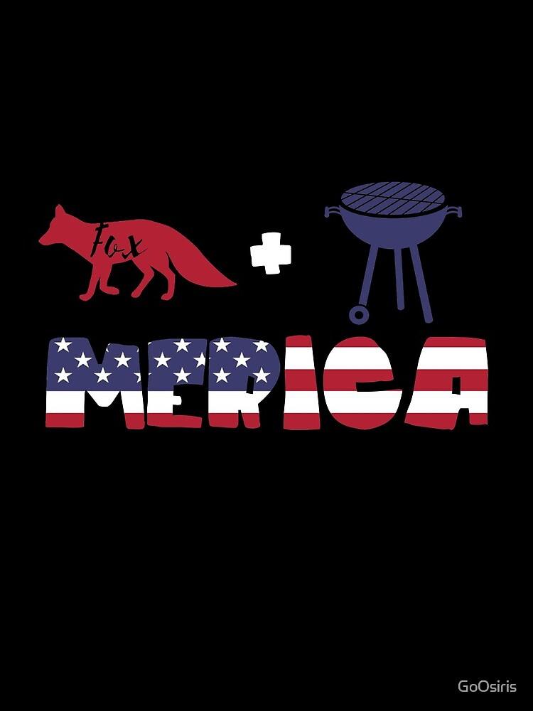 Foxplus Barbeque Merica American Flag de GoOsiris