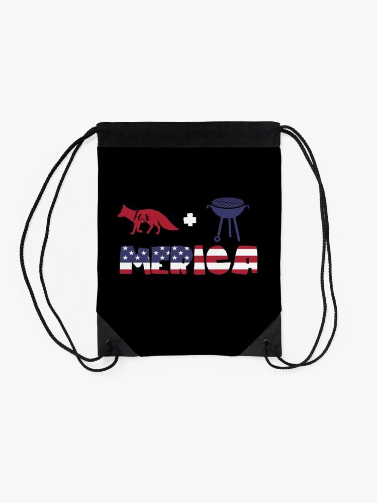 Vista alternativa de Mochila saco Foxplus Barbeque Merica American Flag
