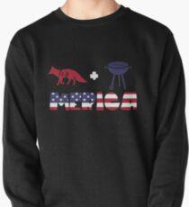 Foxplus Barbeque Merica American Flag Sudadera sin capucha
