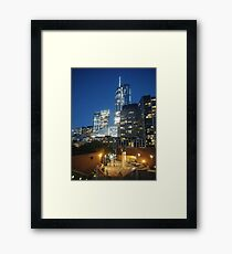 Manhattan, New York City, downtown, #Manhattan, #NewYorkCity, #downtown Framed Print