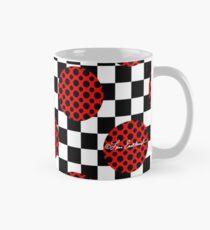 Checkerboard Red Circles Dots Mug
