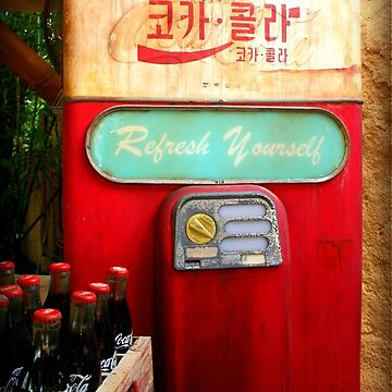 Vintage Korean Coca Cola Vending Machine by anitahiltz