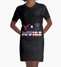 Awesome Eagle plus Barbeque Merica American Flag Vestido camiseta