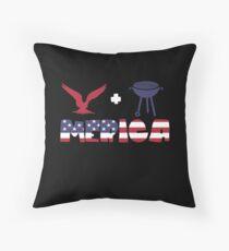 Awesome Eagle plus Barbeque Merica American Flag Cojín de suelo