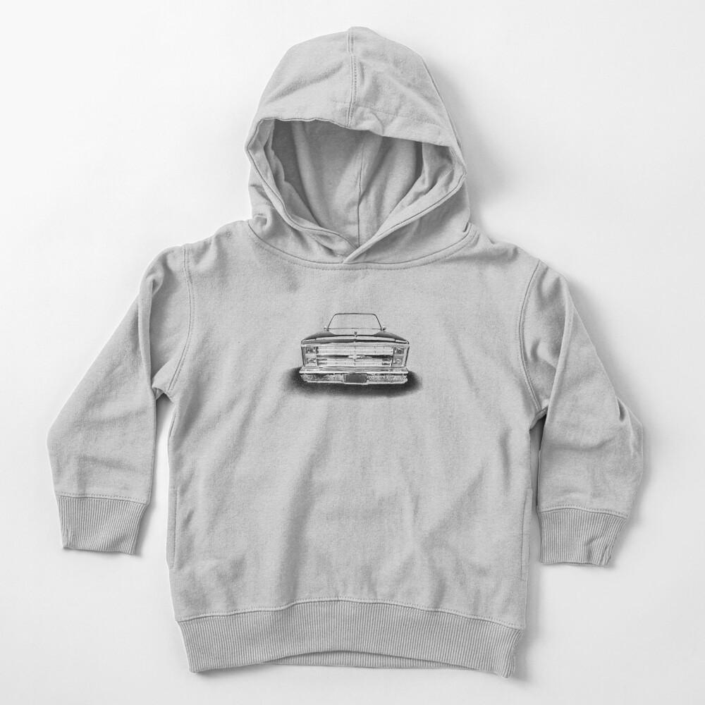 Chevy Silverado Square body pickup 1 - black Toddler Pullover Hoodie