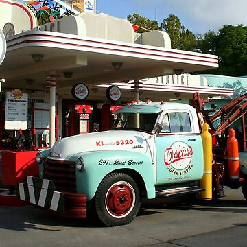 Oscar's Super Service Gas Station In WDW Hollywood Studios by anitahiltz