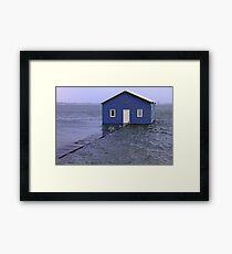Storm Surge At Crawley Edge Boatshed  Framed Print