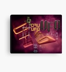 unidentified flying type Canvas Print