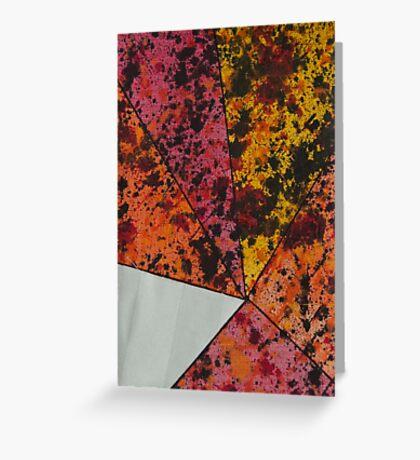 Corner Splatter # 10 Greeting Card