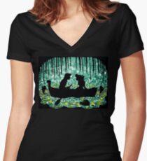 Kiss The Girl Women's Fitted V-Neck T-Shirt