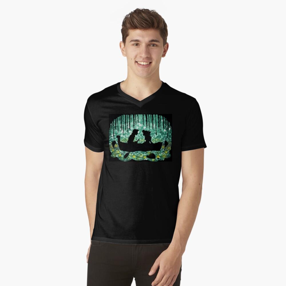 Besar a la chica Camiseta de cuello en V