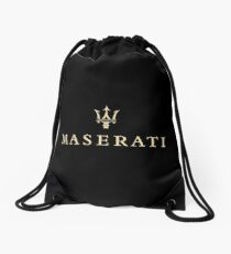 gold maserati Drawstring Bag