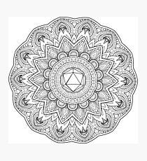 Odesza Symbol Mandala Photographic Print