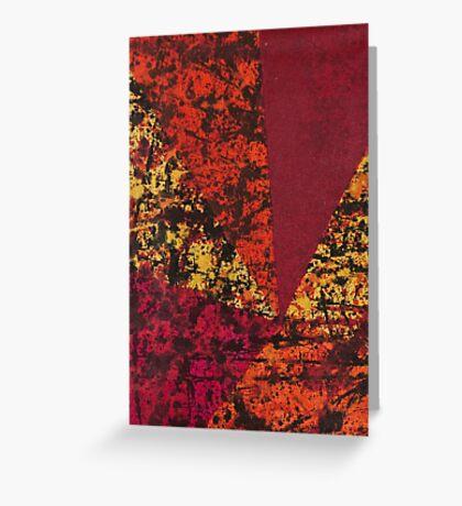 Corner Splatter # 7 Greeting Card